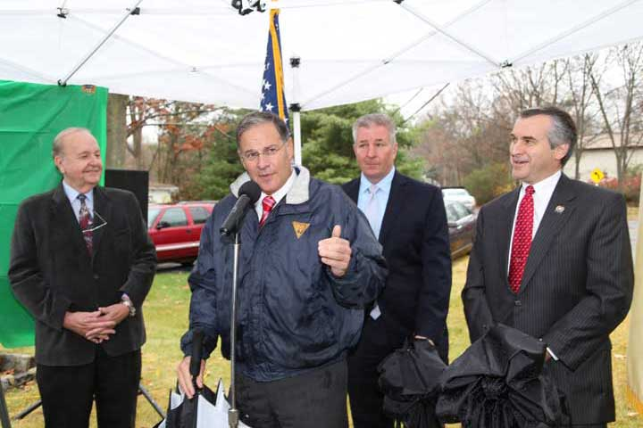 Assembly Republican Leader Jon Bramnick speaks at unveiling of Alex DeCroce Memorial Highway