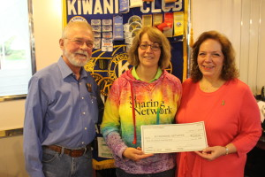Kiwanis President Bob Keller, Gordon Meth, Michele Dabal, NJ Sharing Network and Kiwanis President Connie Keller. Bob received a kidney transplant and his donor was his wife, Connie.