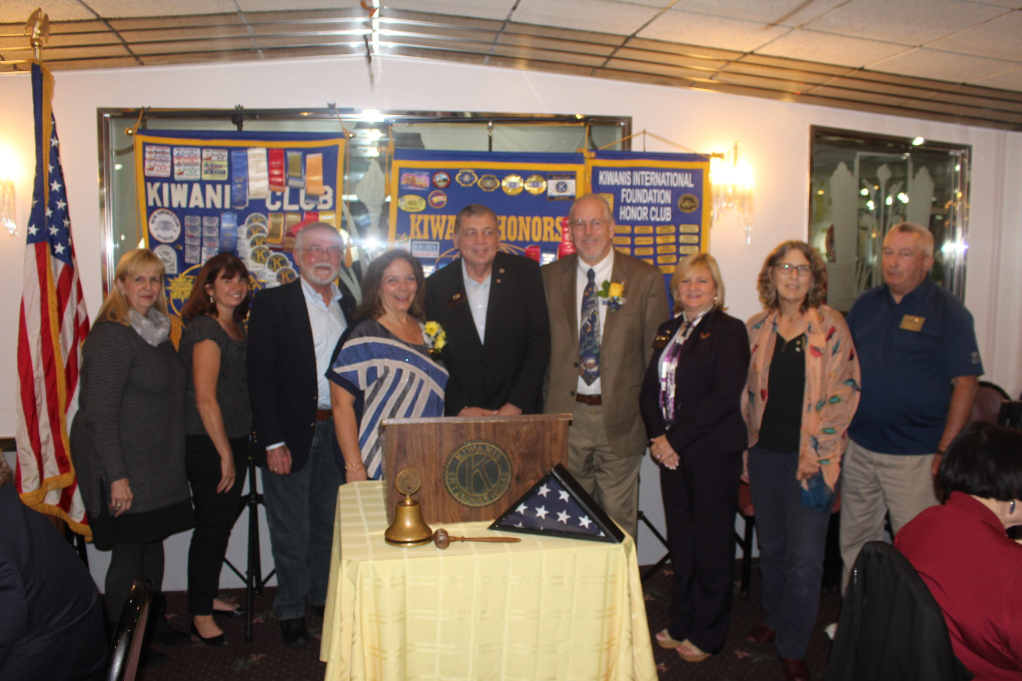 Newly sworn in officers at Kiwanis Club of Greater Parsippany